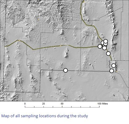 Map of all sampling locations during study